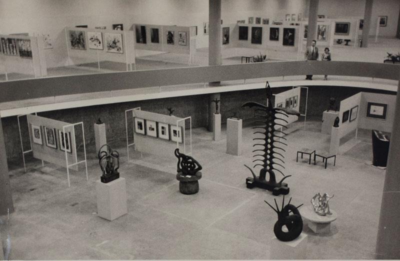 Vista geral da 3ª Bienal com destaque para as obras de Maria Martins, A soma de nossos dias, O Implacável, Ishwara, O Canto do Mar e Insônia Infinita da Terra