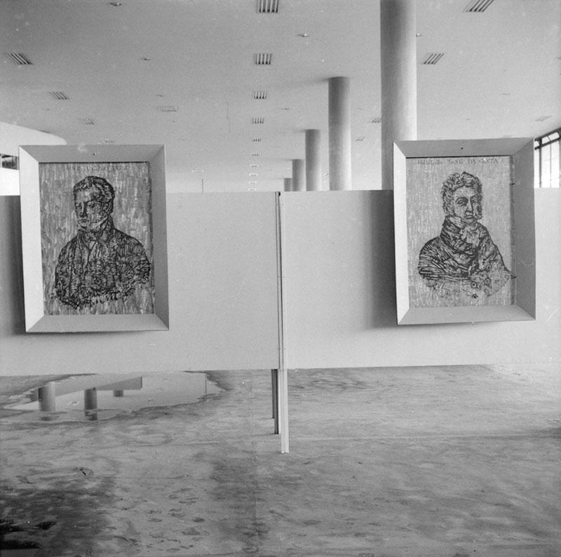 Vista da Sala Brasil com obras de Quirino da Silva