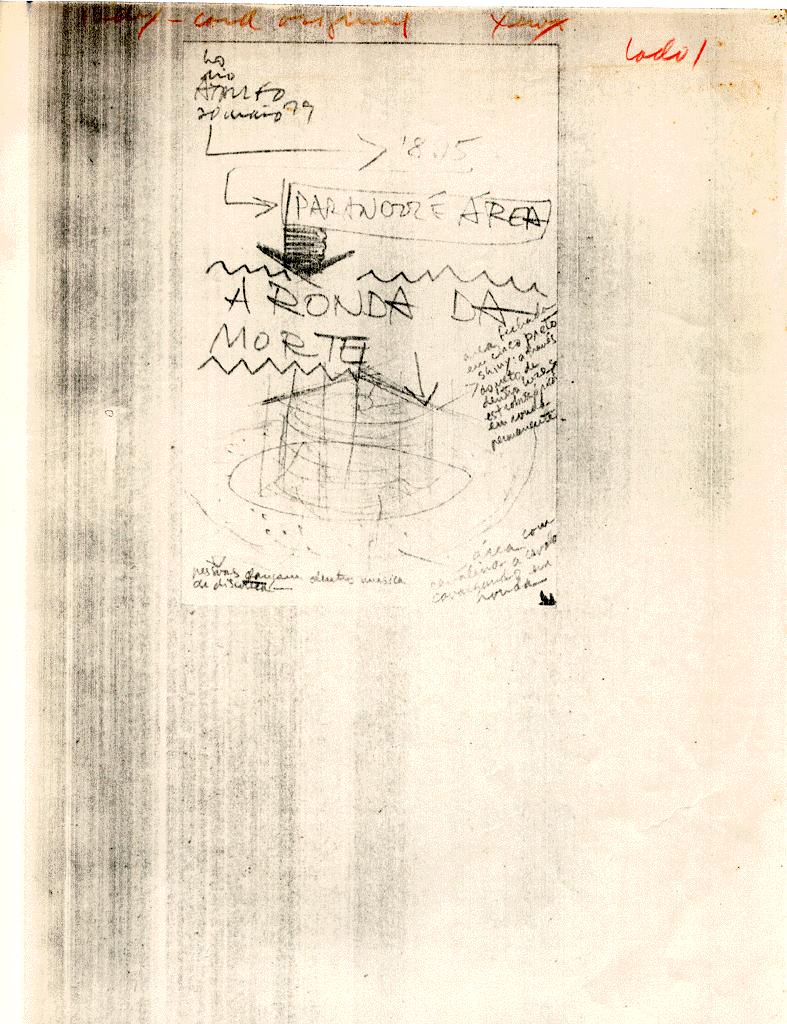 Hélio Oiticica, <i>Folhas datilografadas - Correspondência ativa</i>. Cortesia do Projeto H.O
