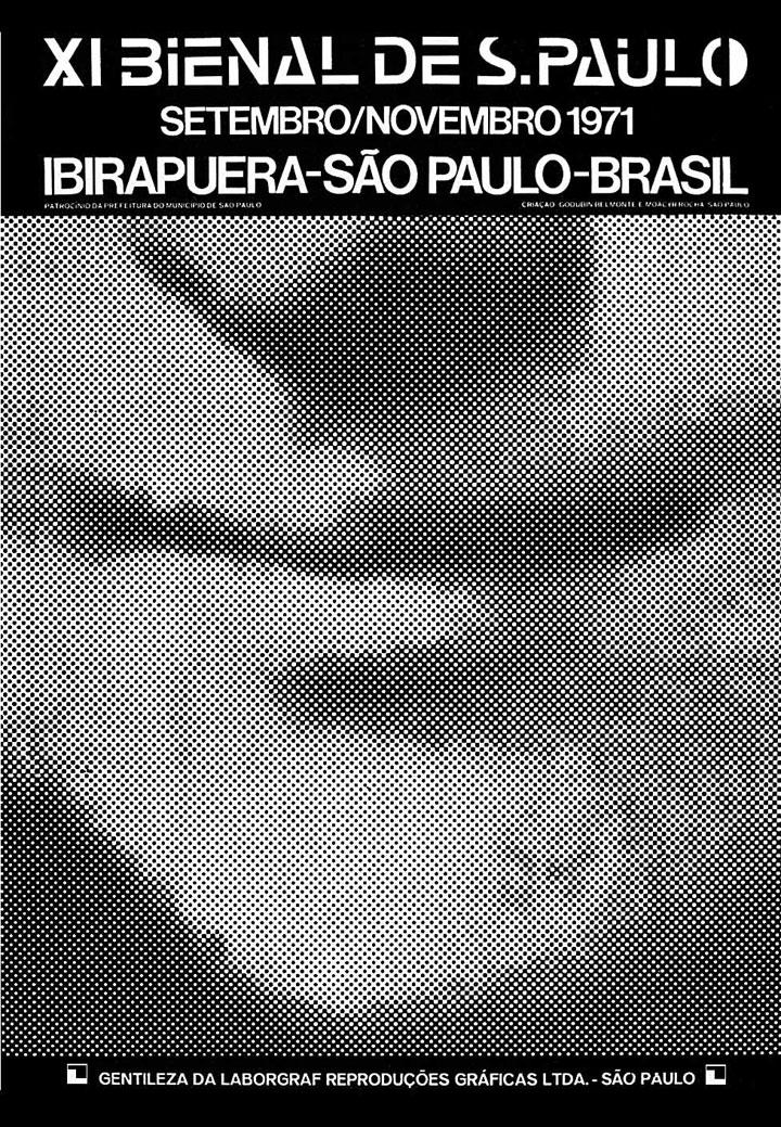 A referência ao maior ícone da história da arte - a Mona Lisa - é feita por meio do resgate de seu detalhe mais significativo - o sorriso. Da mesma forma que o cartaz da Bienal anterior trava um diálogo com a op-art, aqui é a vez da pop art, movimento que havia sido a grande estrela da nona Bienal. Esse diálogo se dá tanto pelo fato de o detalhe ter sido ampliado de modo a tornar visível a retícula, recurso característico da obra de Roy Lichtenstein, como também por fazer uso de imagem presente na mídia de massa, recurso recorrente na obra de Andy Warhol. Bienal 50 Anos, 1951-2001, 2001, p.296