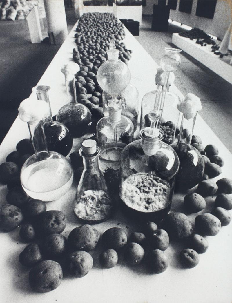 Victor Grippo, Analogías con la ciencia [Analogias com a Ciência]. Obra exposta pelo Grupo de los Trece na Sala CAYC