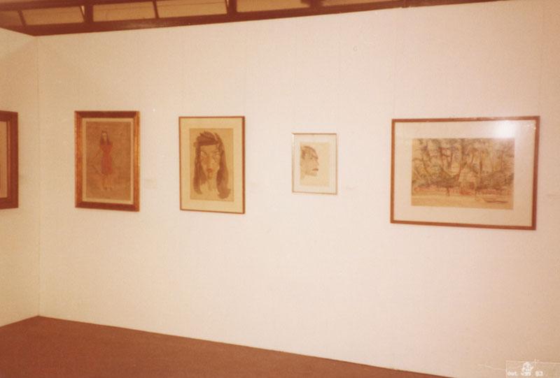 Obras de Flavio de Carvalho na Sala Especial dedicada ao artista