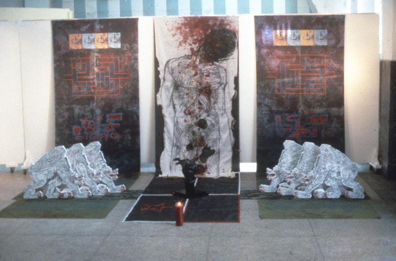Sofia González, Construcción de Papel 3 [Construção de Papel 3], representante da Guatemala na exposição geral