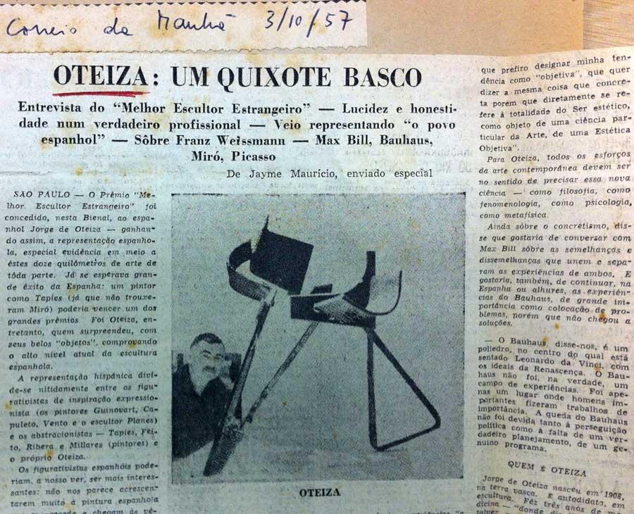 Jorge Oteiza Dossier Bienal