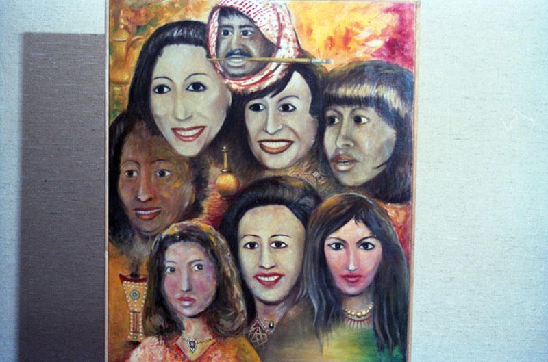 Obra de Khalifa Al-Qattan, representante do Kwait na exposição geral