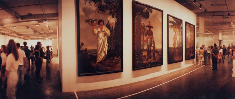 Núcleo Histórico da 24ª Bienal, com vista para as obras de Albert Eckhout e Séculos XVI-XVIII, Mameluca, Mulher Africana, Índia Tupi e Índia Tarairiu