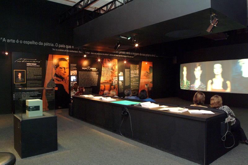 Sala dedicada ao artista Candido Portinari