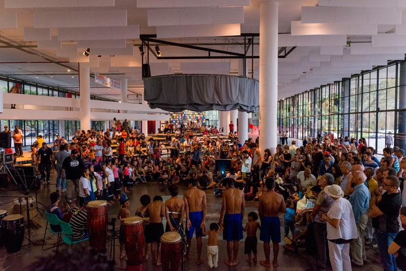 O Treme Terra, Esculturas Sonoras, atividade de abertura do Programa Público da 31ª Bienal