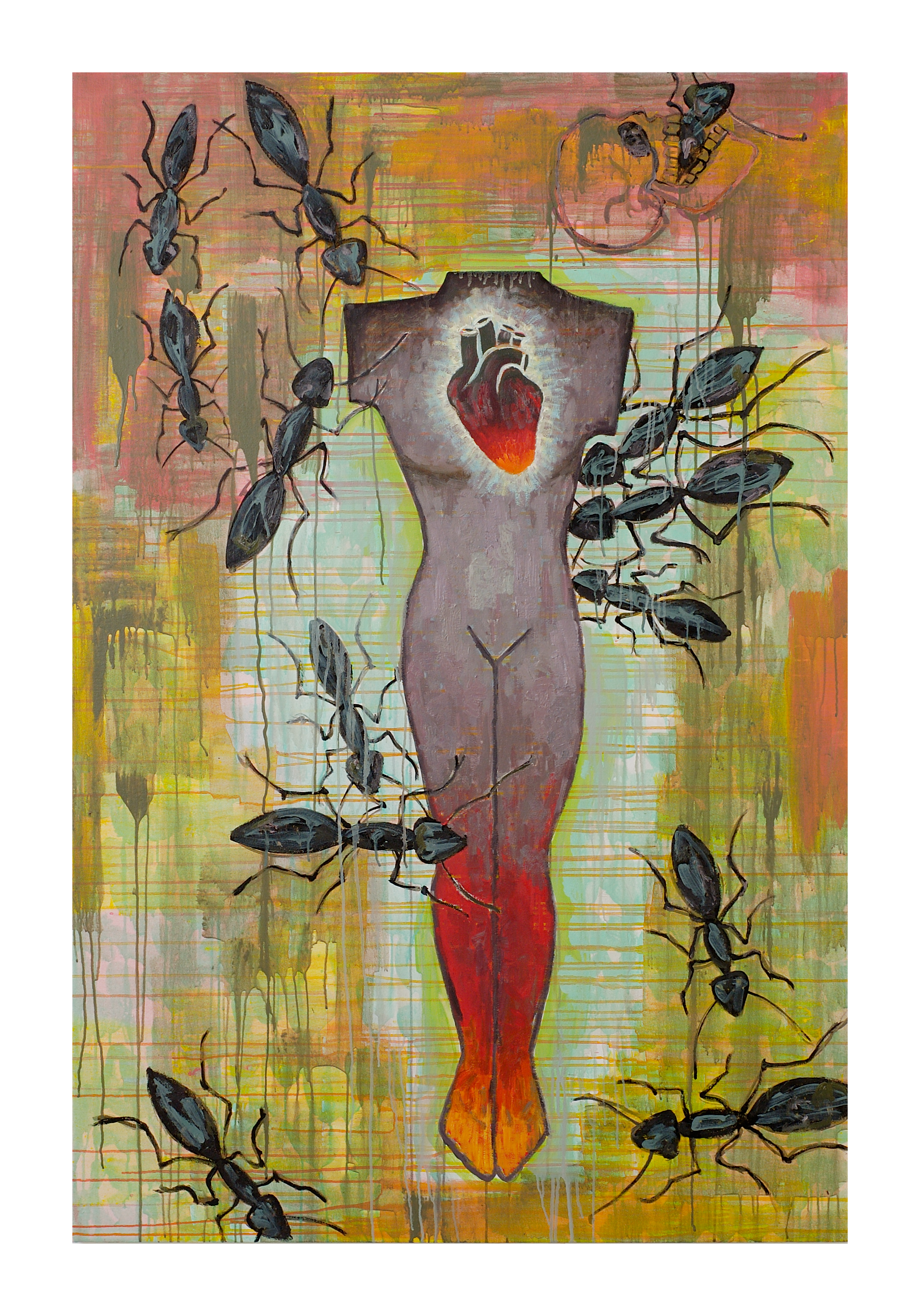 Jaune Quick-to-See Smith, <i>Which Comes First (The Insects or the Humans)</i>, 2004. Coleção: Garth Greenan Gallery. Cortesia da artista