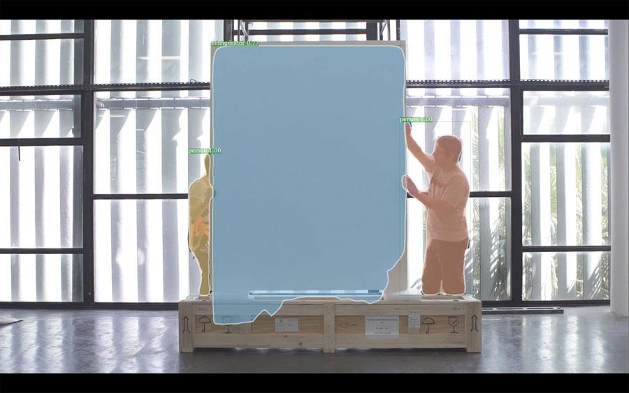 Bruno Moreschi, Ação Registros decodificados: construção do espetáculo (frame de vídeo)