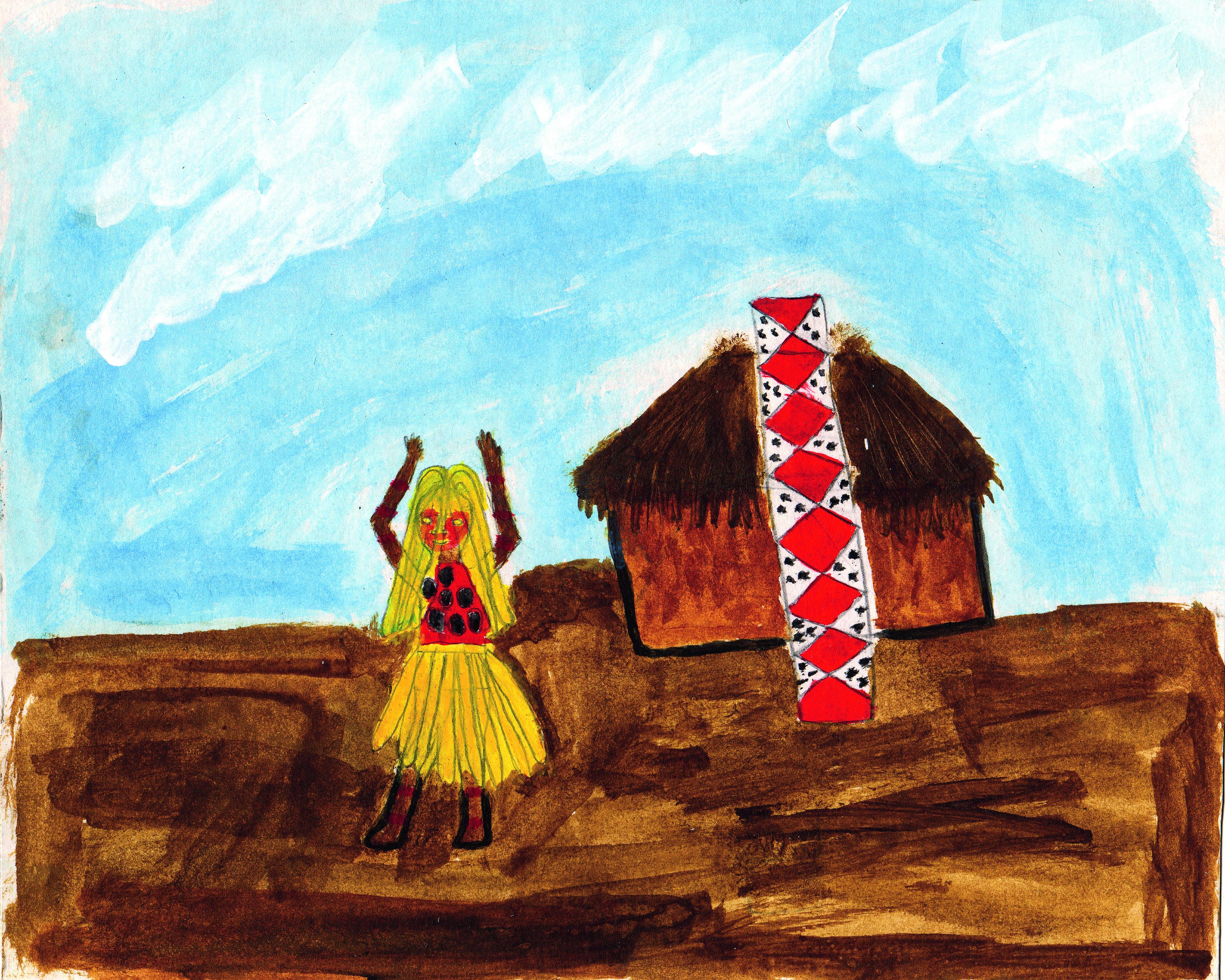 Sueli Maxakali, <i>Mõgmõka xupep</i> [O Gavião saindo],  2005. Cortesia da artista
