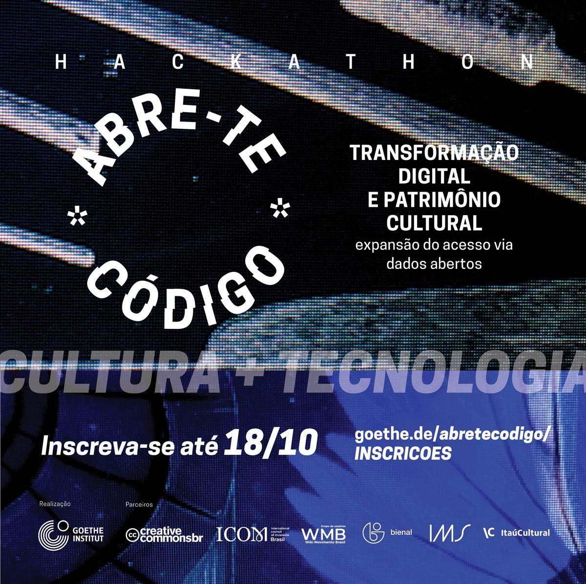 Inscreva-se para o Hackathon Abre-te Código, iniciativa do Goethe-Institut com apoio da Fundação Bienal