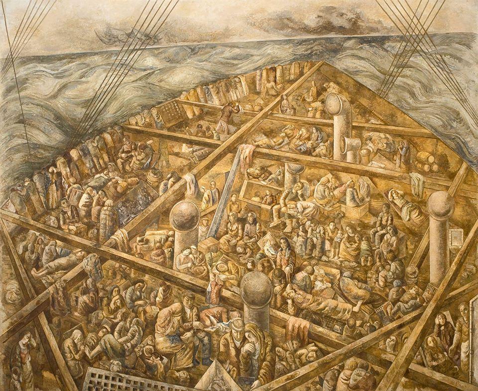 Lasar Segall, <i>Navio de emigrantes</i>, 1939-41. Cortesia do Museu Lasar Segall – Ibram/Ministério do Turismo