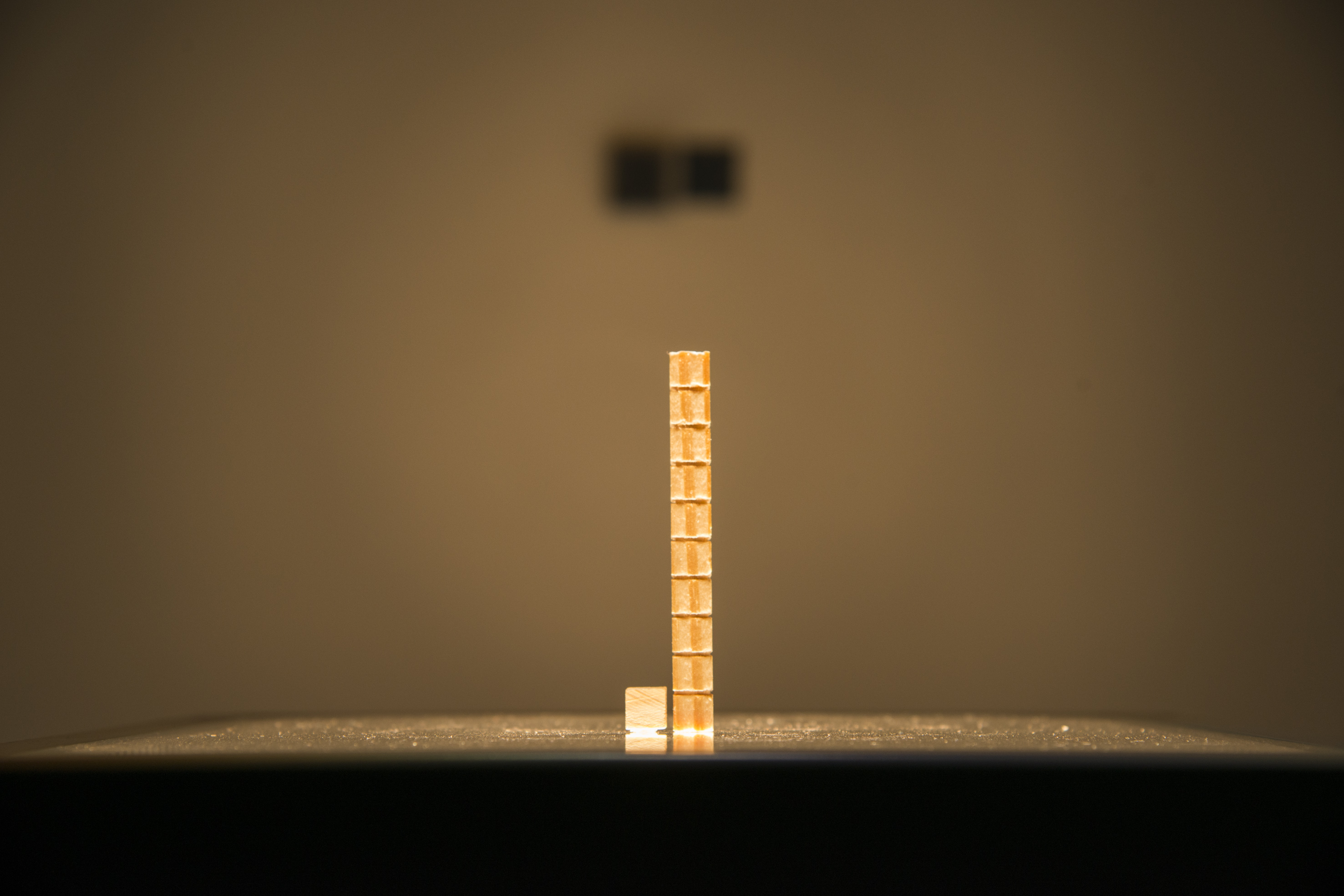 Vista da obra <i>Educação pela noite</i> (2020), de Clara Ianni, na exposição <i>Vento</i>. Foto de Levi Fanan / Fundação Bienal de São Paulo