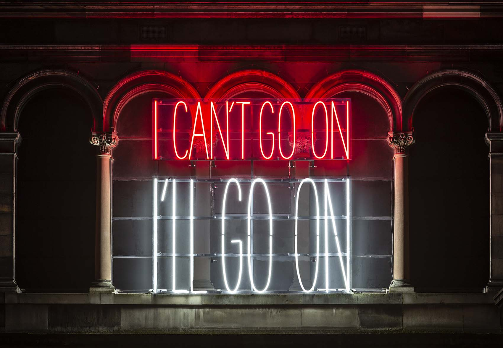 Alfredo Jaar, <i>I Can't Go On, I'll Go On</i>, 2019. Courtesy of the artist