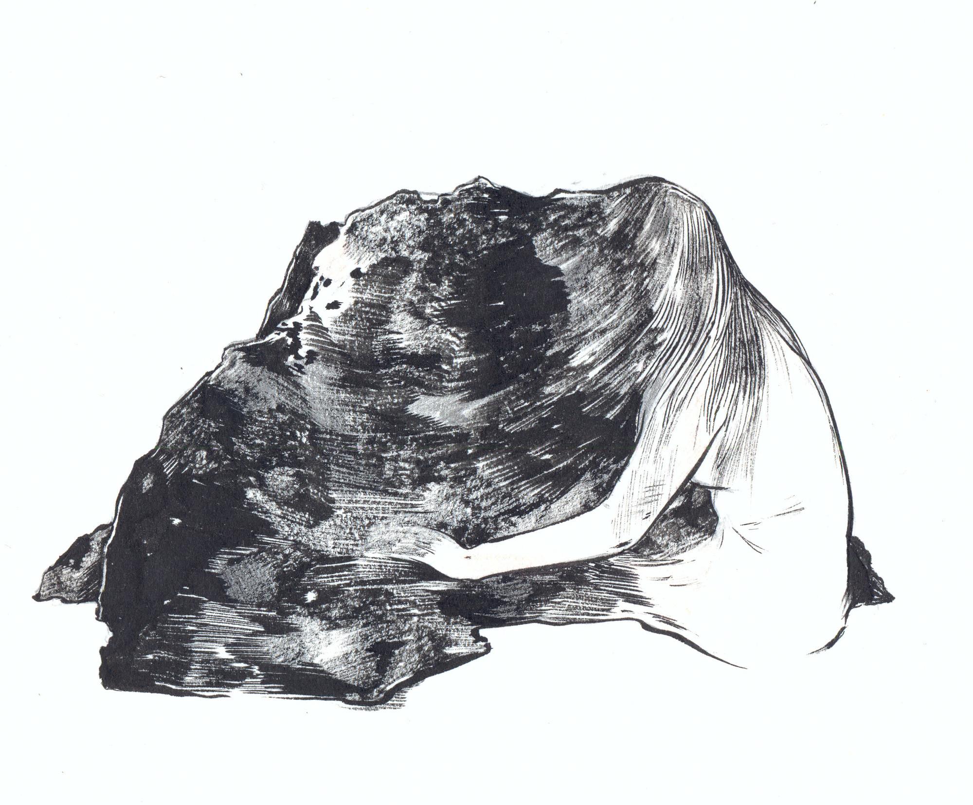 Desenho parte da instalação Con tus propias manos, de Rita Ponce de León