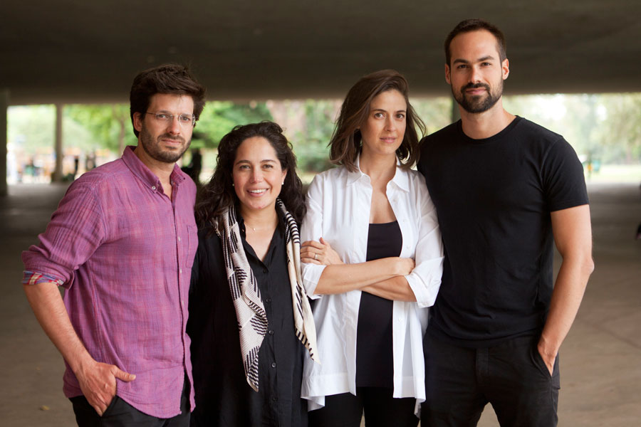 Marcelo Maia Rosa, Laura González Fierro, Sol Camacho, Gabriel Kozlowski, curadores da representação brasileira na 16. MIA