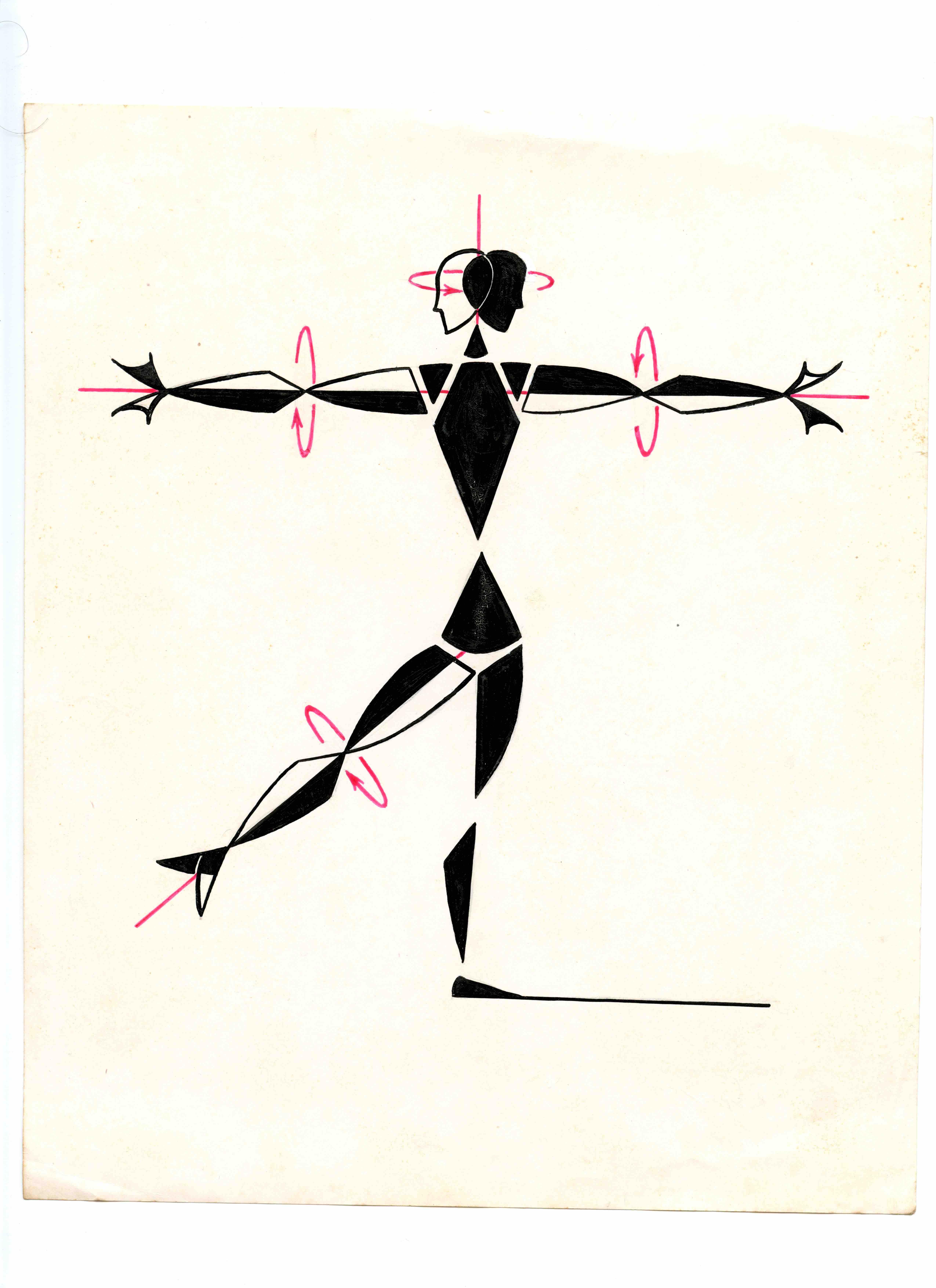 John G. Harries, <i>Rotary Movement</i>, 1950s. Courtesy of The Noa Eshkol Foundation for Movement Notation