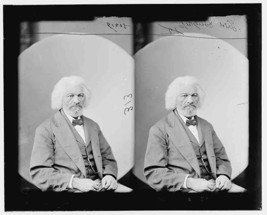 Negativo fotográfico de Frederick Douglass, 1877. Foto de Matthew B.Brady