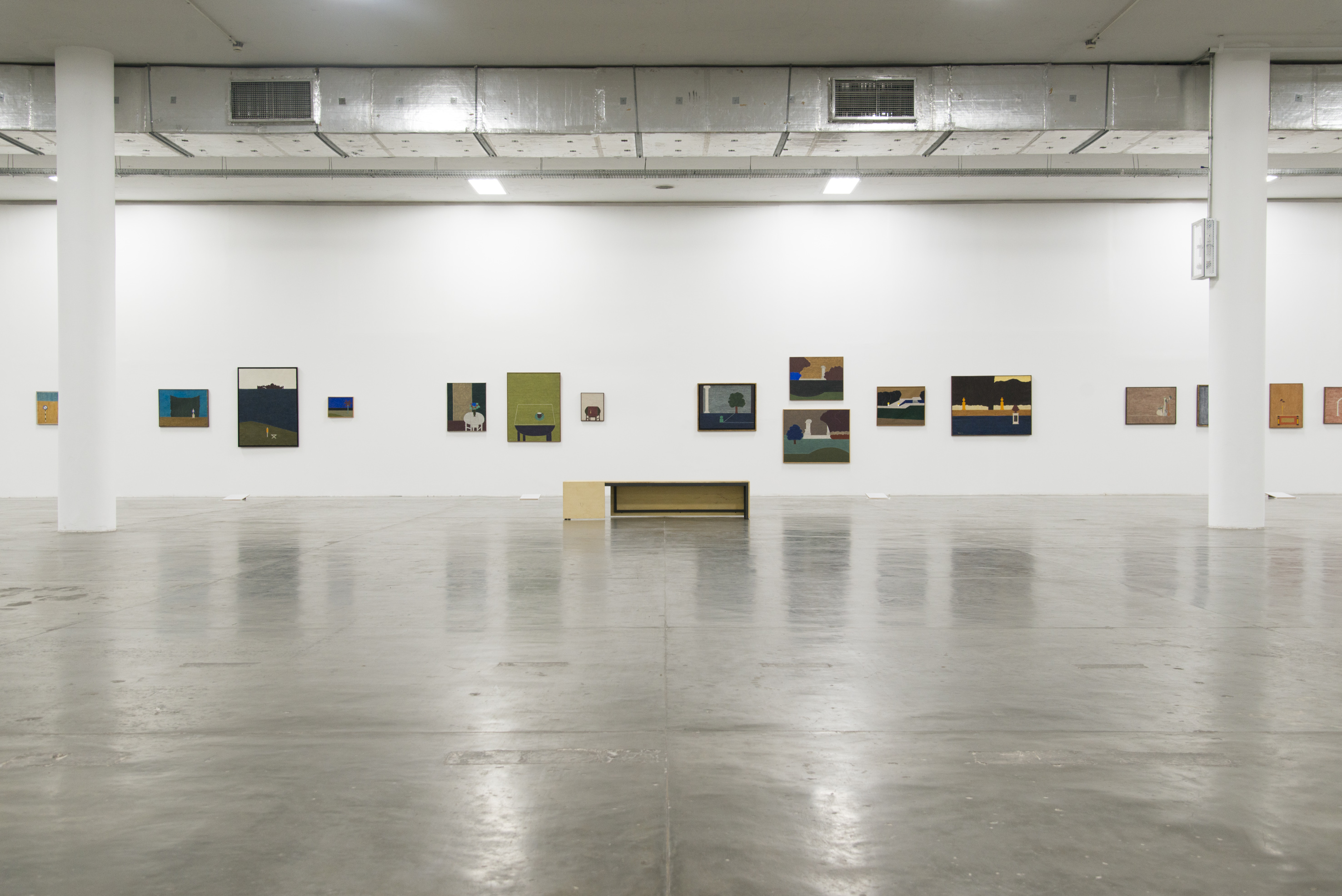 Vista das obras de Eleonore Koch na exposição <i>Vento</i>. Foto: Levi Fanan / Fundação Bienal de São Paulo