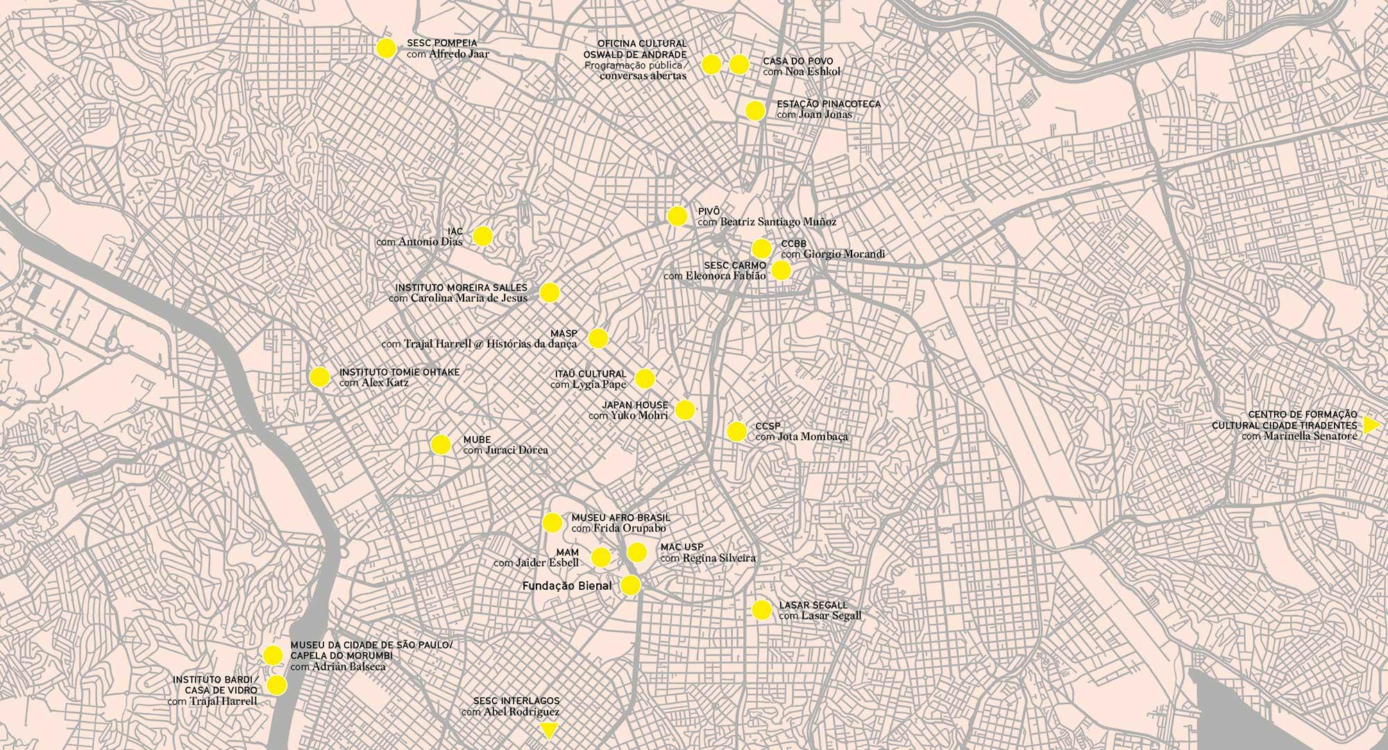 Divulgada a programação da 34ª Bienal com 25 instituições parceiras em São Paulo