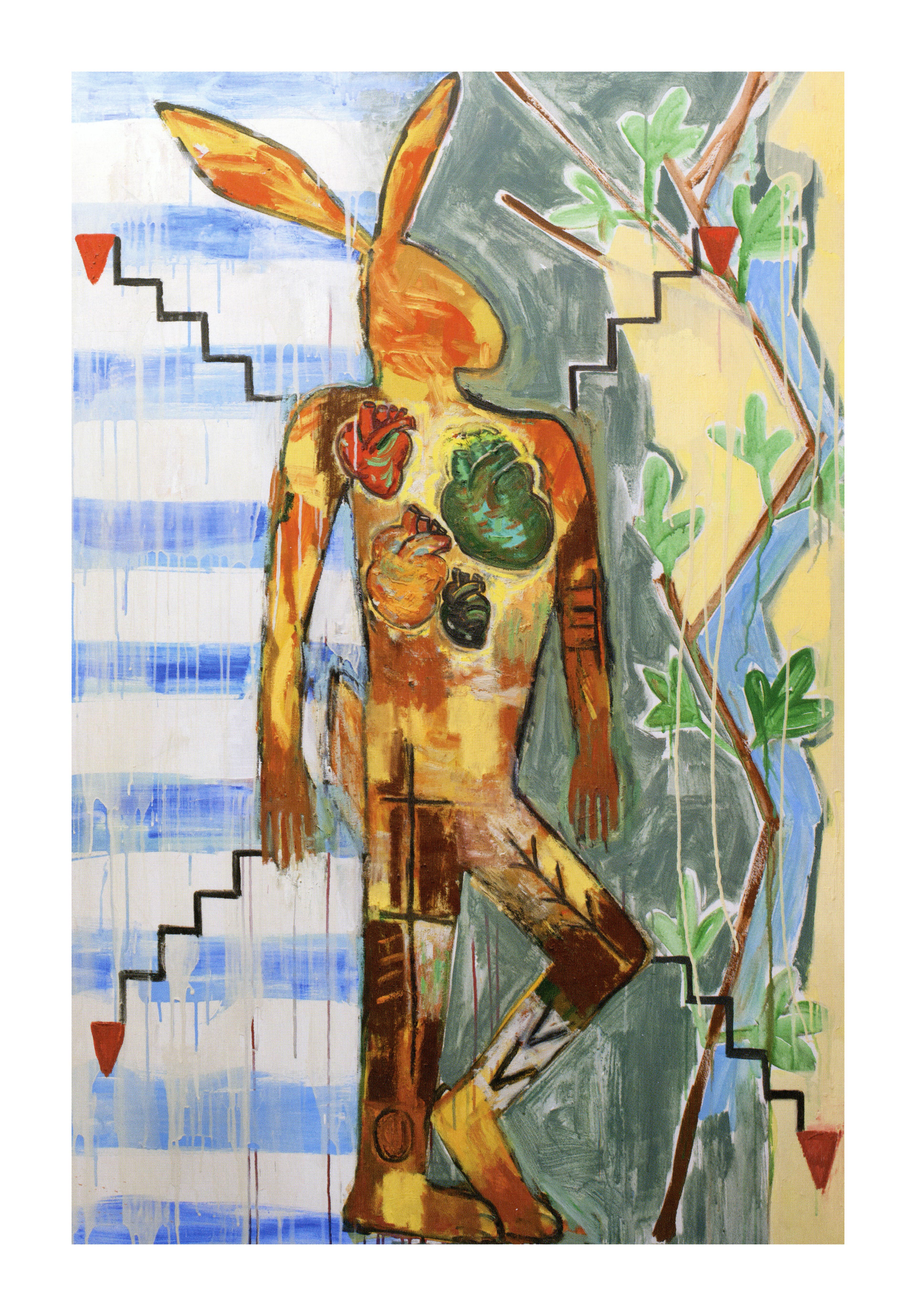 Jaune Quick-to-See Smith, <i>Mixed Blood</i>, 2004. Coleção de Garth Greenan Gallery. Cortesia da artista
