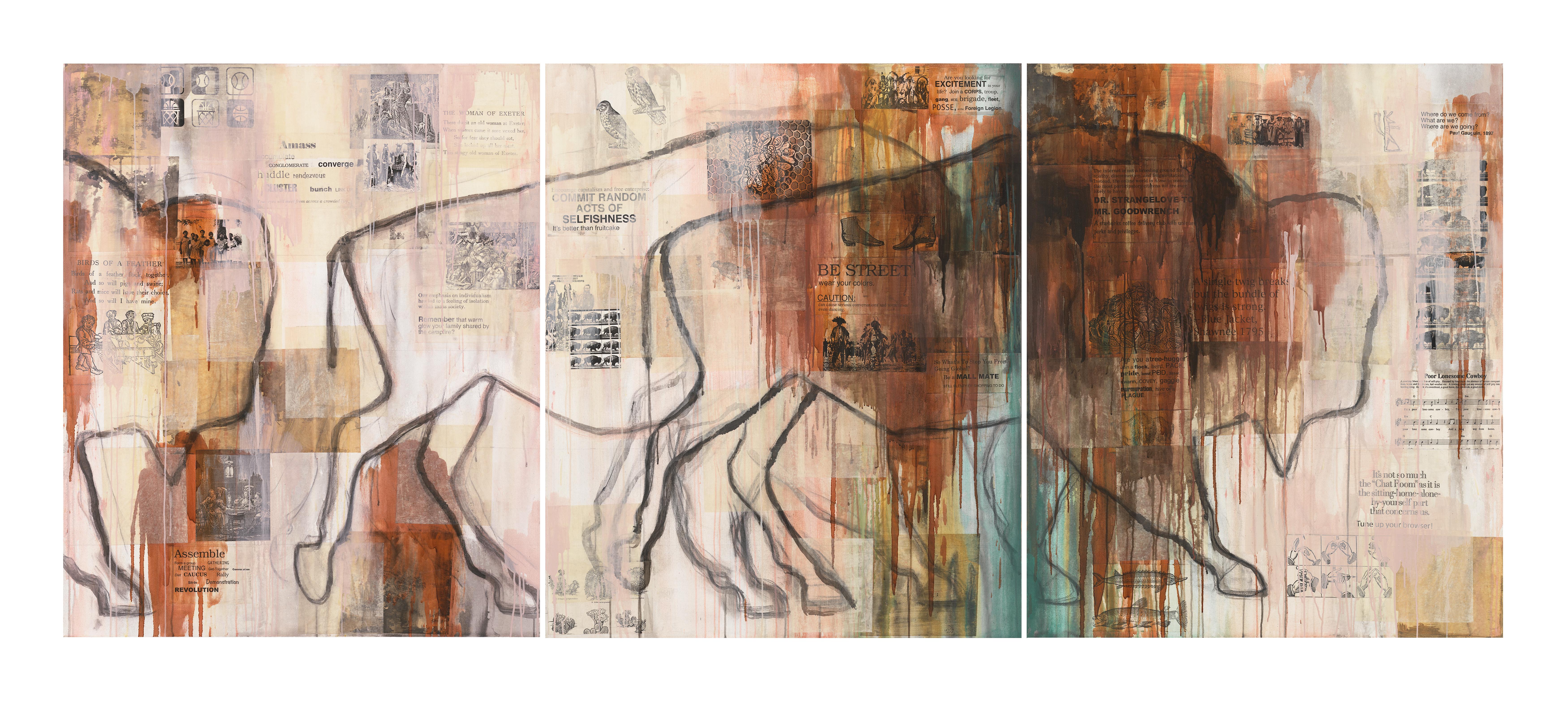 Jaune Quick-to-See Smith, <i>I See Red: Herd</i>, 1992. Coleção: Garth Greenan Gallery. Cortesia da artista