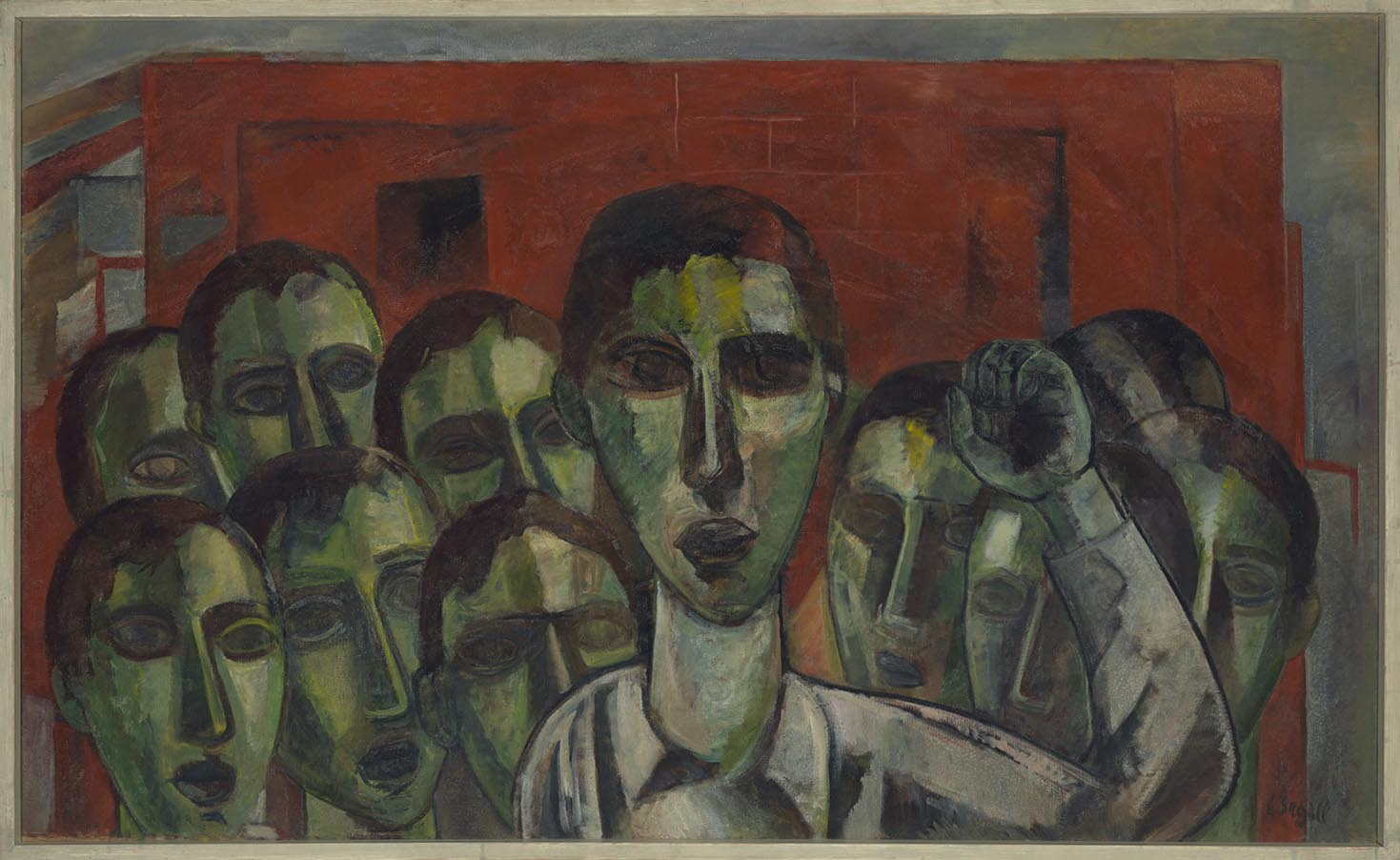 Lasar Segall, <i>Greve</i>, 1956. Cortesia do Museu Lasar Segall – Ibram/Ministério do Turismo