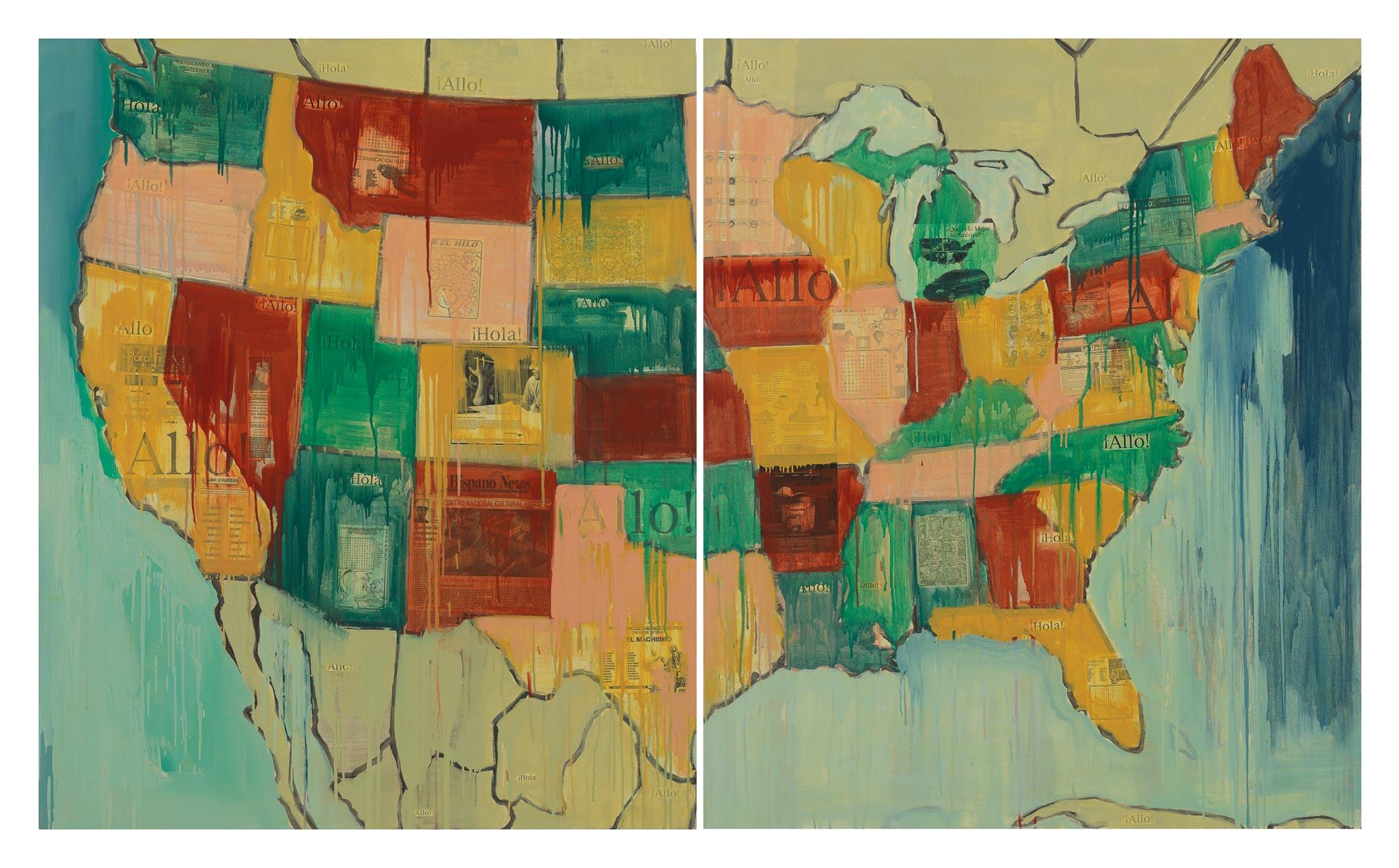 Jaune Quick-to-see Smith, <i>Echo</i>, 2000. Coleção Garth Greenan Gallery. Cortesia da artista e Garth Greenan Gallery, Nova York