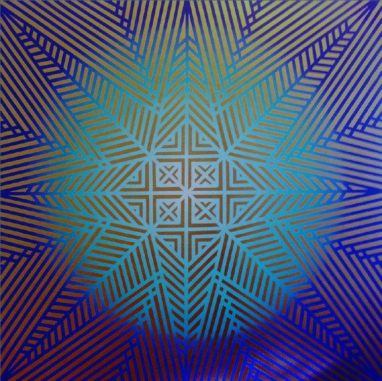 Daiara Tukano, <i>Ñokõá tero po'ero</i> [Enchente do colar de pedra, Constelação das plêiades], 2018. Cortesia da artista