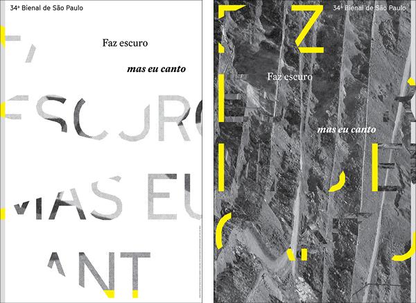 Posters for the 34th Bienal de São Paulo