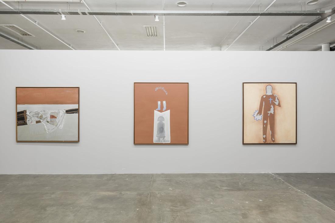 Siron Franco, Primeira vítima; Segunda vítima; Terceira vítima, 1987. 33ª Bienal de São Paulo.